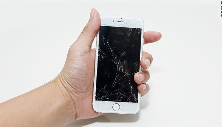 Cracked iPhone LCD Screen