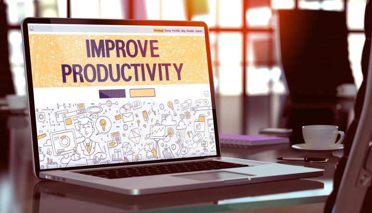Improve Productivity – Concept on Laptop Screen.